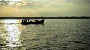 Fischerboot beschnitten
