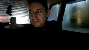 Zhadan im Taxi