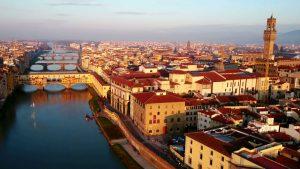 Florenz Brücke Flug