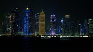 Katar Skyline Nacht