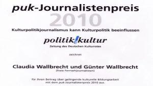 pup - Journalsitenpreis 2010 Urkunde_2